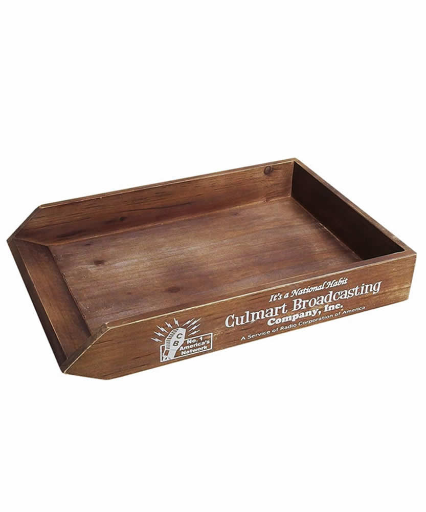 WOOD PAPER TRAY